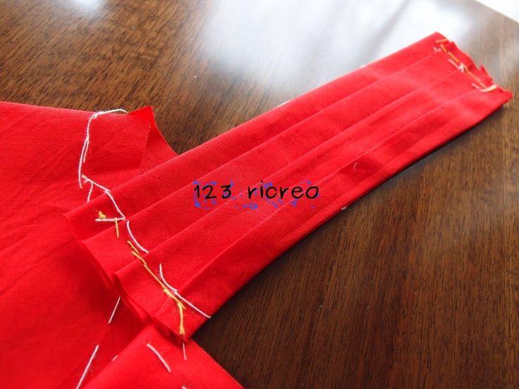 Piega decorativa spalla sinistra - video di 123ricreo - #sew #costura #cucito