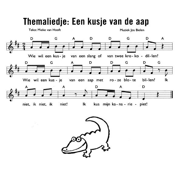 Thema jungle / oerwoud: Lied 'Een kusje van de aap'