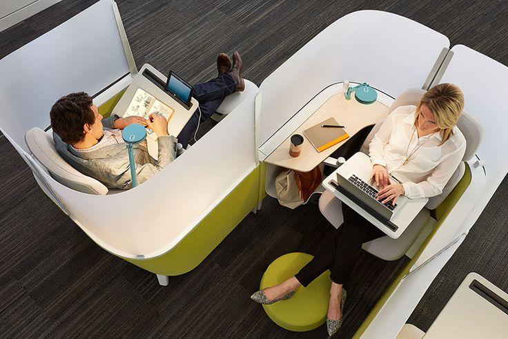 Conçu par le groupe Steelcase, Brody est un bureau à la fois design et astucieux vous permettra de travailler en toute sérénité.