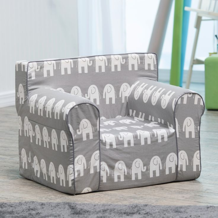 Have to have it. Here and There Kids Chair - Gray Elephant - $99.99 @hayneedle