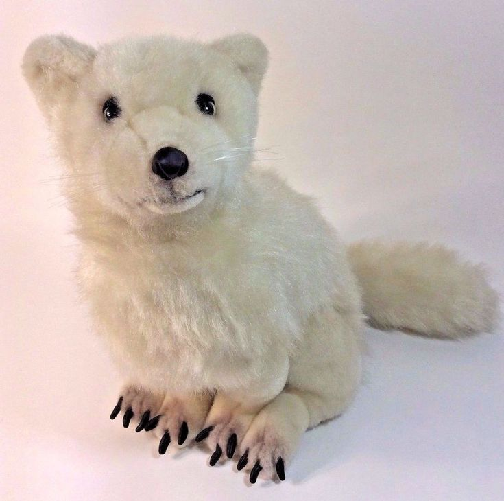"Discovery Channel White Arctic Fox 16"" Realistic Plush Stuffed Animal #DiscoveryChannel"