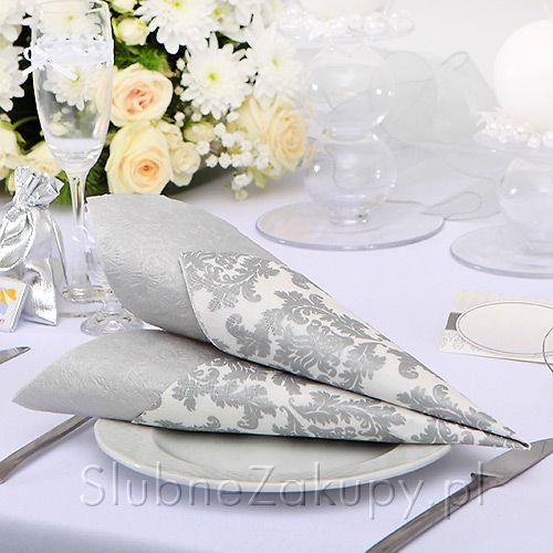 SERWETKI papierowe Kol. Wykwintna 33x33 20szt #slub #wesele #sklepslubny #slubnezakupy #dekoracje
