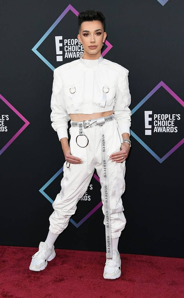James Charles From 2018 People S Choice Awards Red Carpet Fashion In Bryan Hearns Charles James James Charles Charles