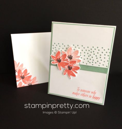 Stampin Up Avant Garden Thank you card - Mary Fish stampinup