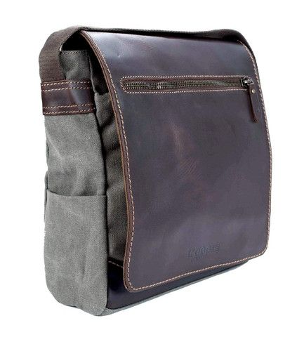 Troop Endeavour Leather & Canvas Body Bag