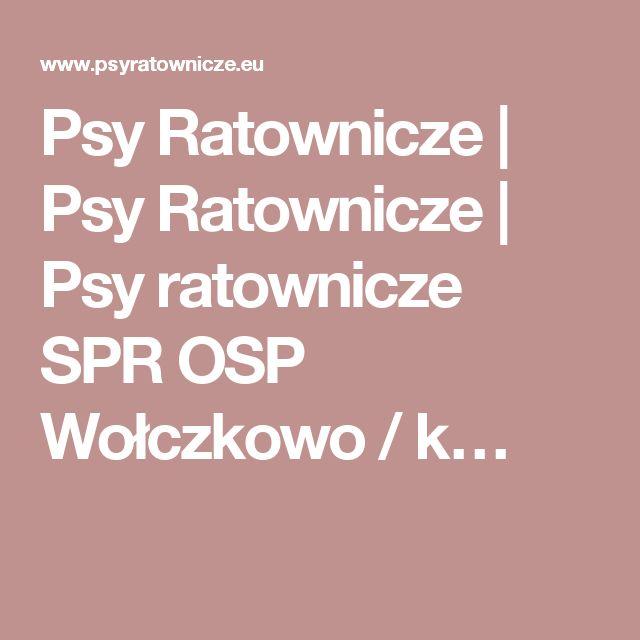 Psy Ratownicze | Psy Ratownicze | Psy ratownicze SPR OSP Wołczkowo / k…