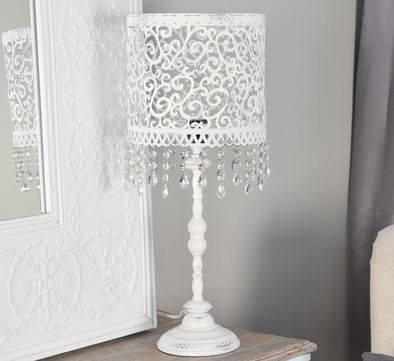 White Lamps, Iron Table, Pure White, Table Lamps, Room Decorations, A Love,  Lampshades, Dorm, Master Bedroom