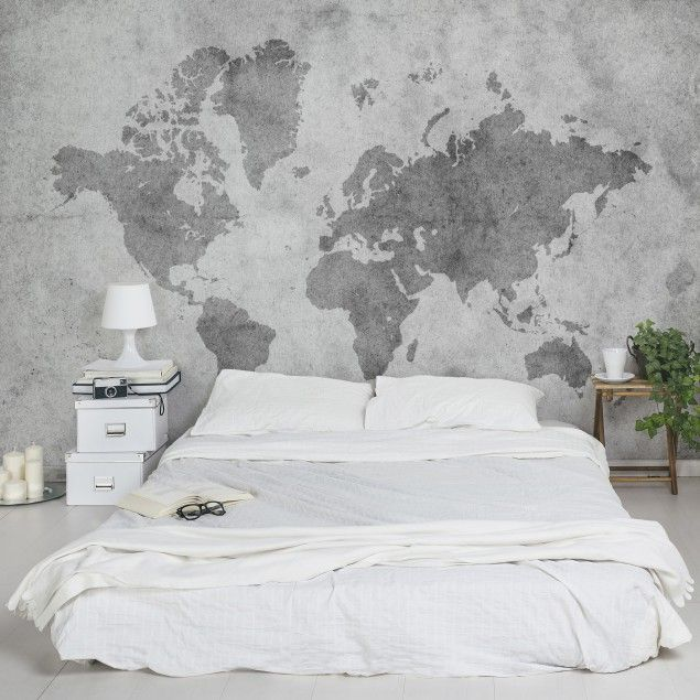 Wall Mural World Map – Vintage World Map II – non-woven wallpaper Premium Wide