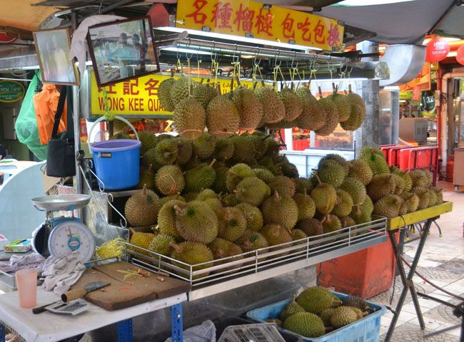 Durian Fruit Stand. This famous stinky fruit is found on Jalan Alor Food Street in the Bukit Bintang Area of Kuala Lumpur. Best of KL Malaysian Food. For our boutique Kuala Lumpur City Guide incl. Malaysian Food and Kuala Lumpur Boutique Hotels check our website: http://best-of-kl.com/