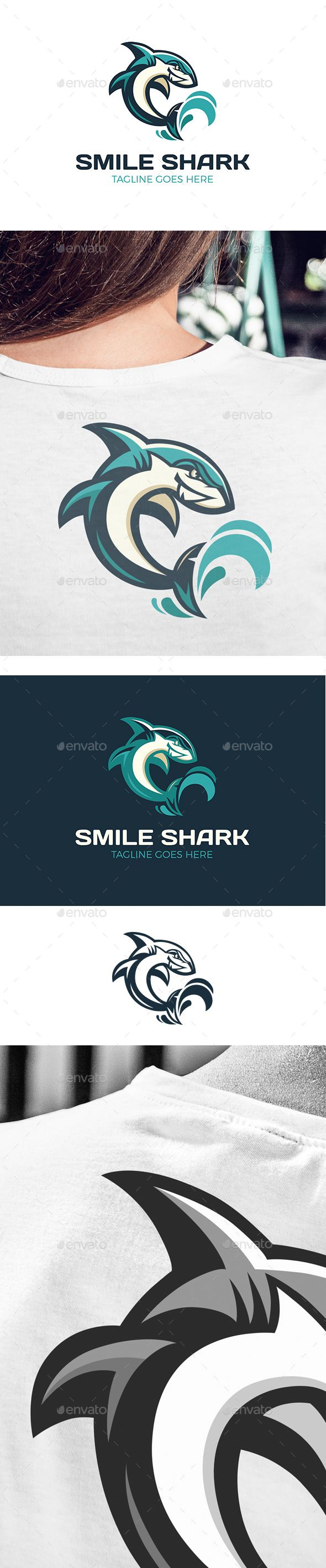 Smile Shark Logo - Animals Logo Templates
