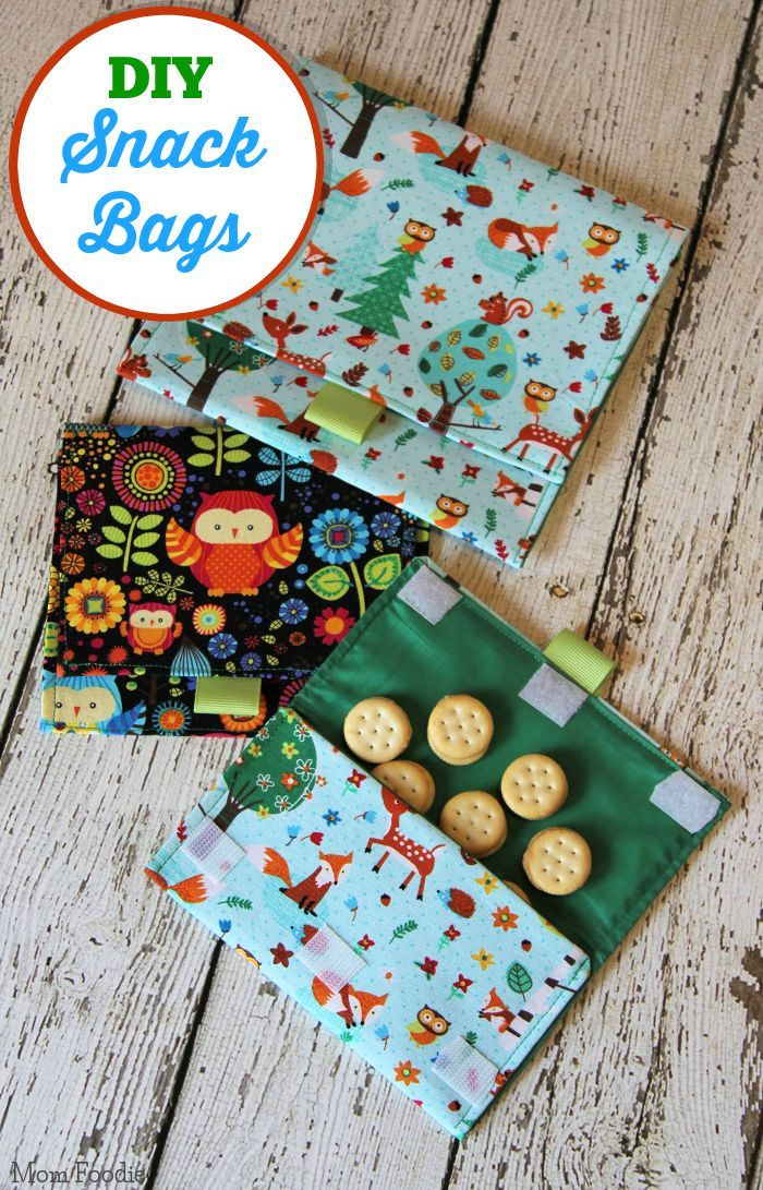 DIY Lined Snack Bags: an Easy Sewing Project  #backtoschool #horizonsnacks