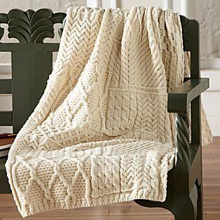 Traditional Irish Aran Throw blanket