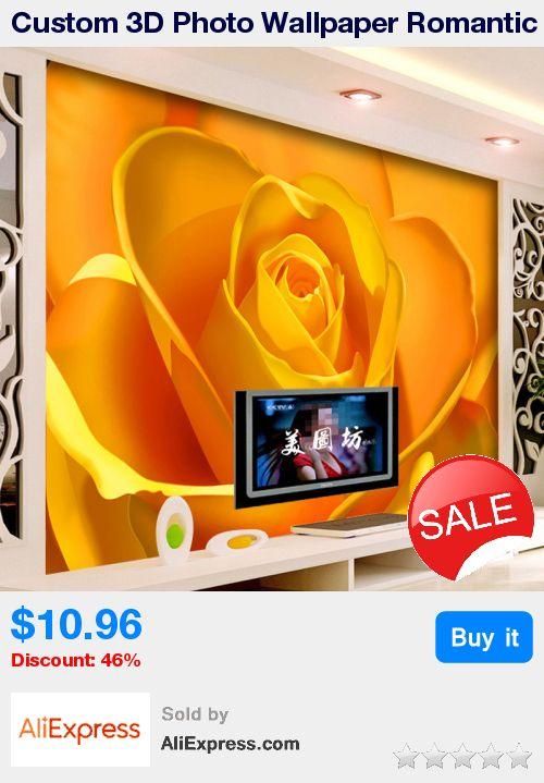 Custom 3D Photo Wallpaper Romantic Golden Rose Flower TV Background Living Room Bedroom Home Decoration Wall Art Mural Wallpaper * Pub Date: 20:46 Apr 12 2017