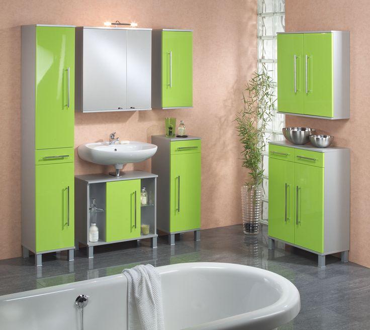 Badezimmer Grün Hochglanz/ Alufarben Woody 151 00015 MDF Modern Jetzt  Bestellen Unter: Https
