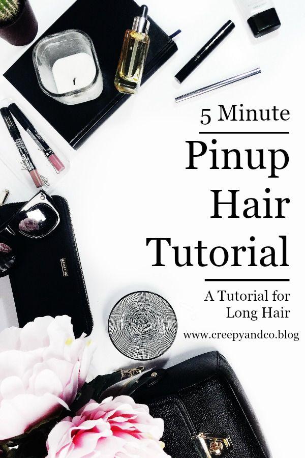 5 minute pinup hair tutorial for long hair