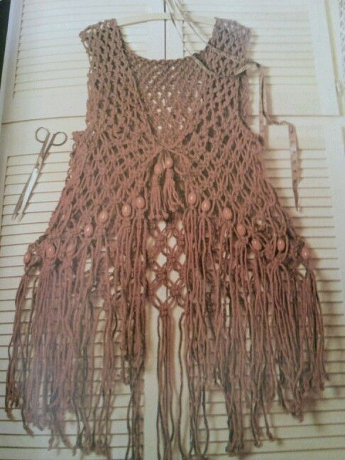 Macrame Vest Macrame Pinterest Vests Macrame And Boho