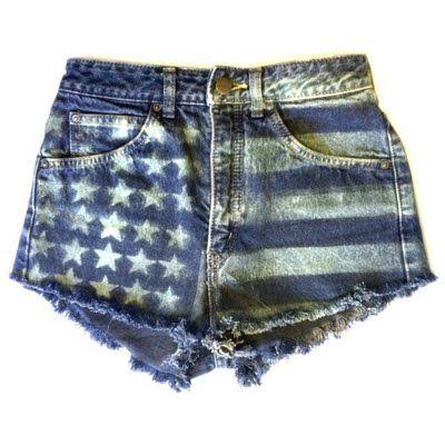DIY amerikanische Flagge Denim Jean Shorts   – DIY