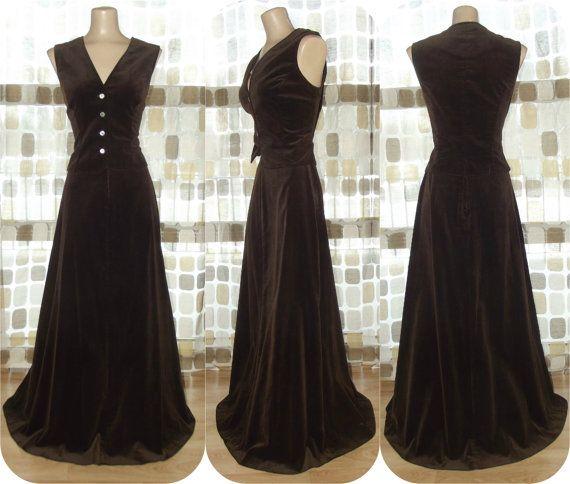 Brown Velvet Skirt 45