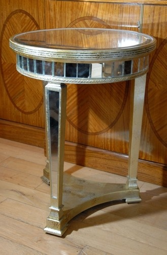 <3 Art Deco Mirrored Side Table Tables Mirror Furniture.