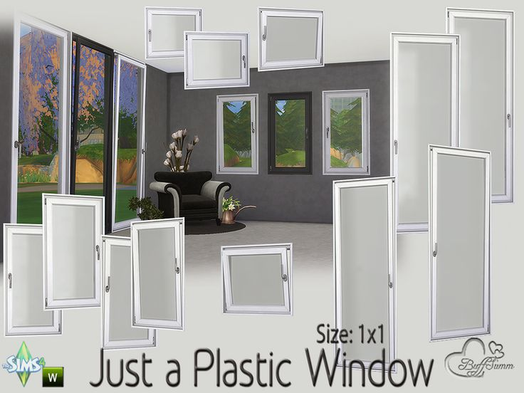 Sims 4 CC's - The Best: Plastic Window by BuffSumm