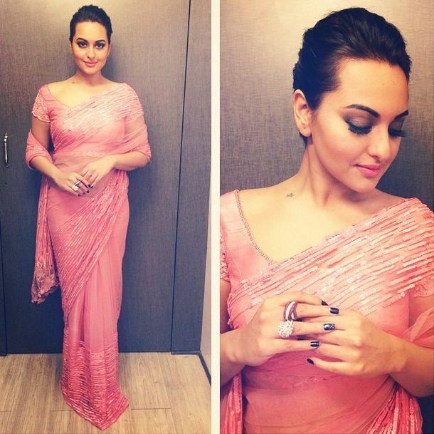 Top Indian fashion and lifestyle blog: Sonakshi Sinha in Manish Malhotra