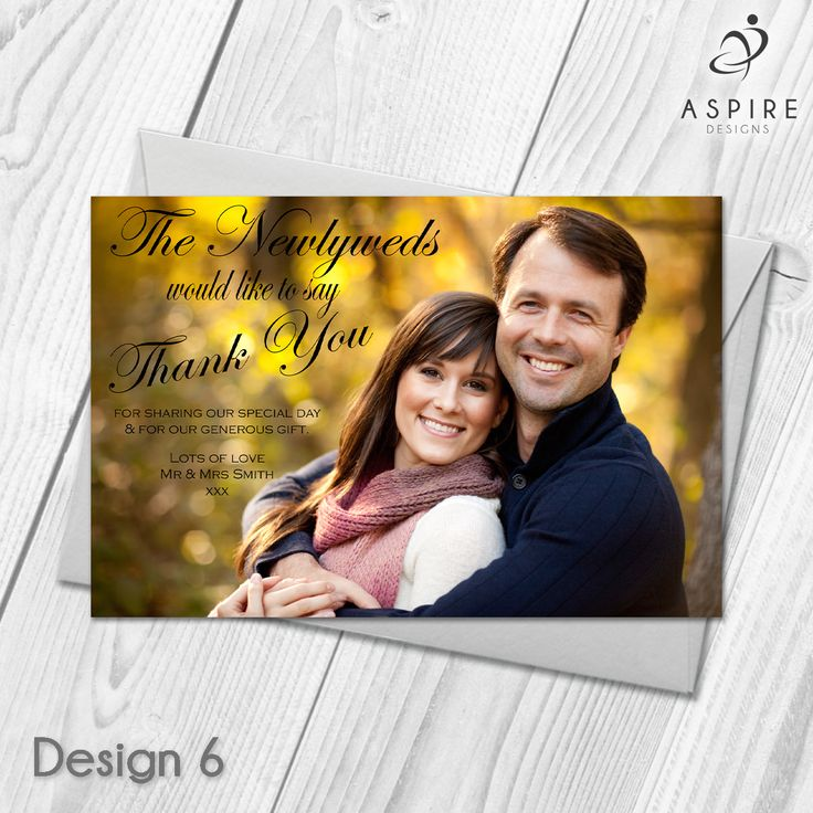 free printable wedding thank you cards with photo%0A Personalised Wedding Guest Thank You Cards  u     Envelopes