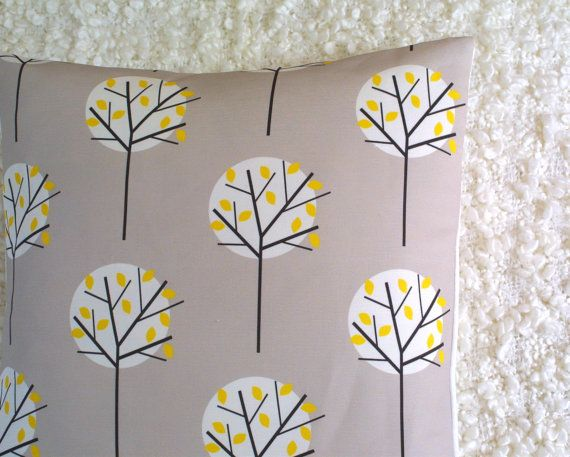 Moonlight Tree in Stone cushion cover by LouiseBrainwood on Etsy, £20.00