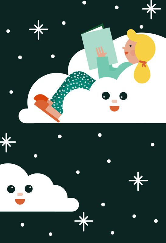 #anaseixas #newdivision #illustration #reading #character #cloud