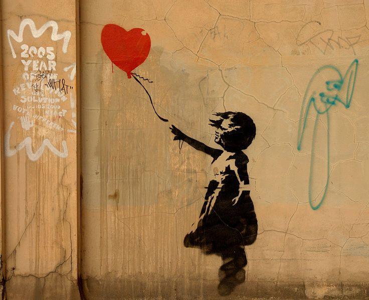 BanksyDoodles Art, Street Artists, Heart, Artworks, Red Balloons, Art Sul-Africana, Banksy, Graffiti Art, Streetart