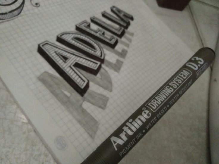 Study 3d hand lettering