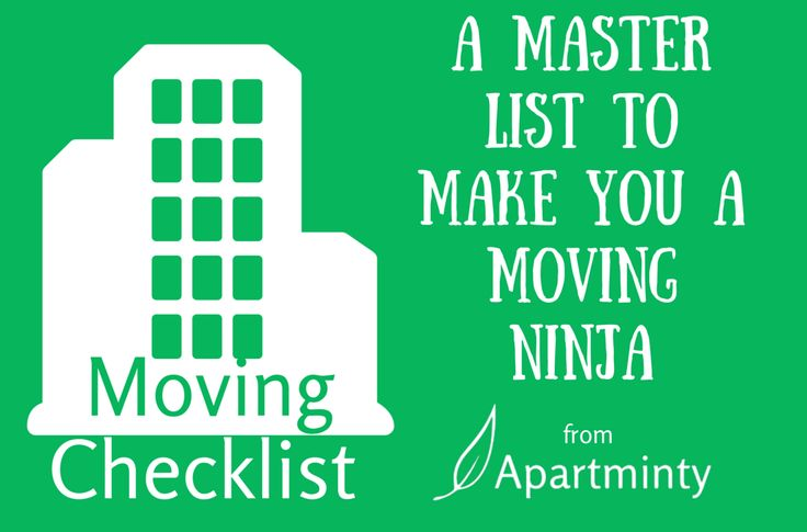 Moving to a new apartment? Keep Your Sanity During Your Move With This Essential Moving Checklist from Apartminty
