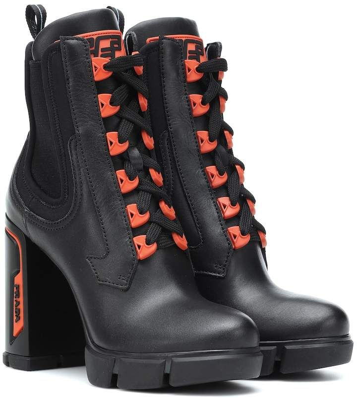 Boots, Heeled boots, Leather ankle boots