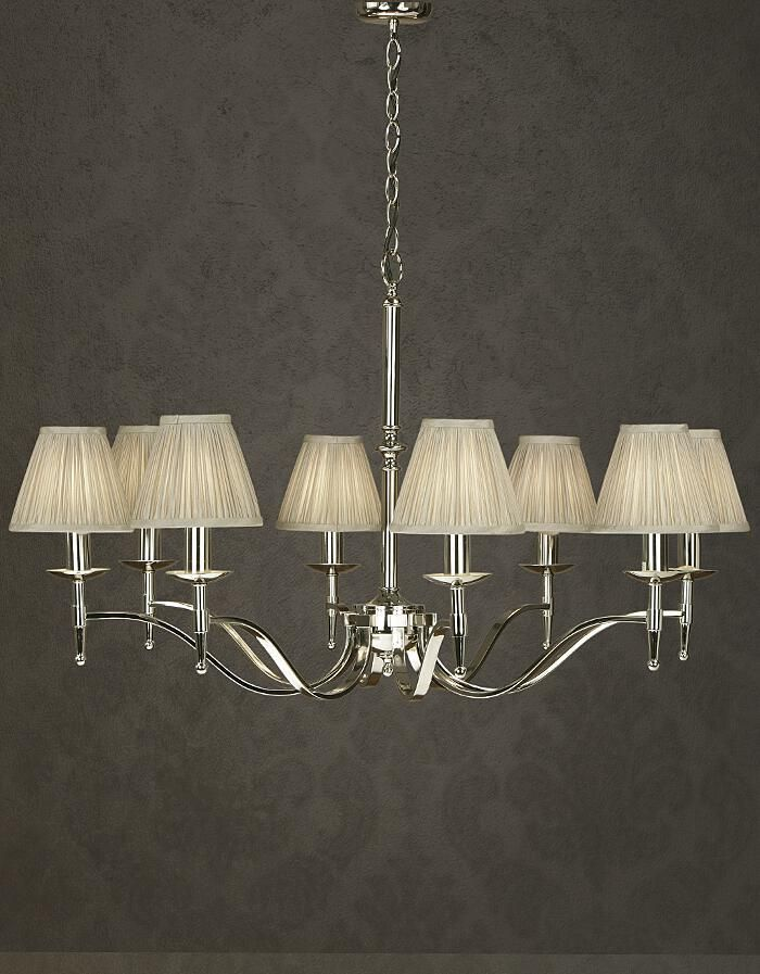 Stanford 8 Light Polished Nickel Chandelier