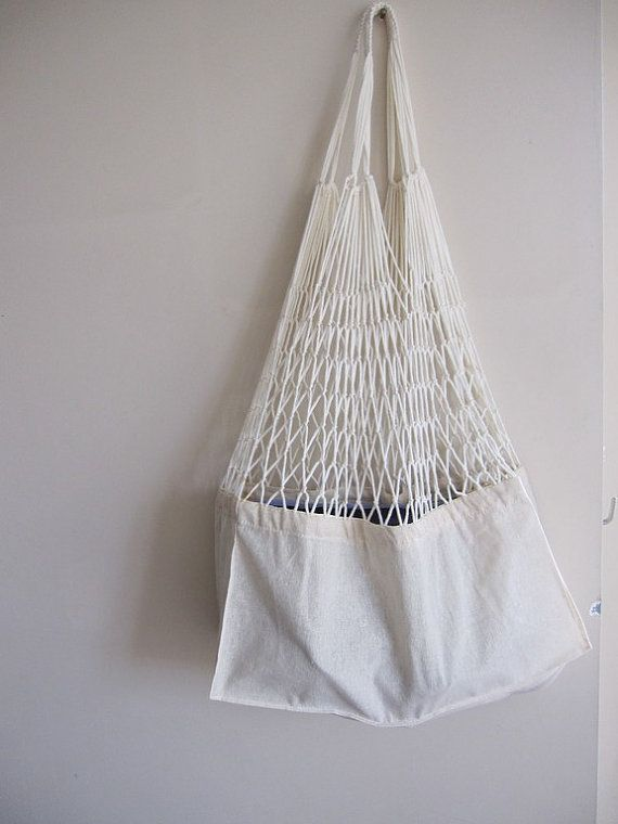 "Linen mesh market tote. Turkish traditional bag (known as ""file ""). For sale on Etsy."