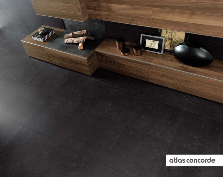 #SEASTONE black | #AtlasConcorde | #Tiles | #Ceramic | #PorcelainTiles