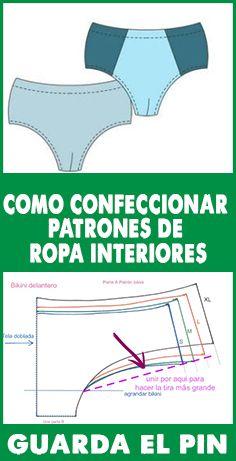 COMO CONFECCIONAR PATRONES DE ROPA INTERIORES