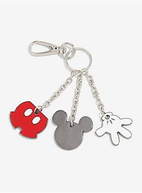 """Make holding onto your keys more magical with this Disney key chain featuring Mickey's head, glove, and shorts!<div><ul><li style=""""list-style-position: inside !important; list-style-type: disc !important"""">Metal</li><li style=""""list-style-position: inside !important; list-style-type: disc !important"""">Imported</li></ul></div>"""