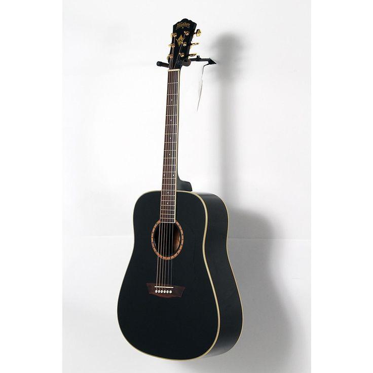 Washburn WD100DL Dreadnought Mahogany Acoustic Guitar Black 888365993324