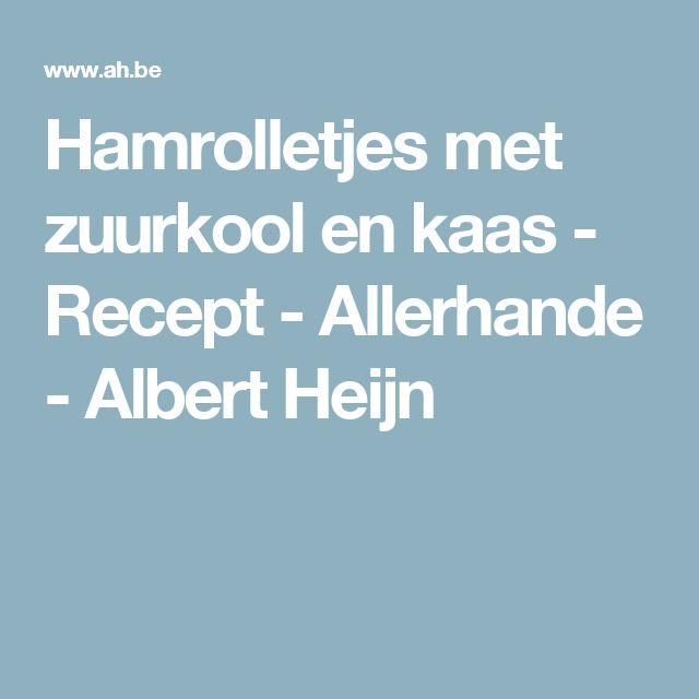 Hamrolletjes met zuurkool en kaas - Recept - Allerhande - Albert Heijn