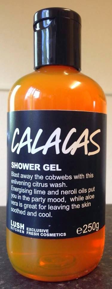 """Calacas Shower Gel: """"Blast away the cobwebs with this enlivening citrus wash. Energizing lime and neroli oils put you in the party mood, while aloe vera is great for leaving the skin soothed and cool"""""""