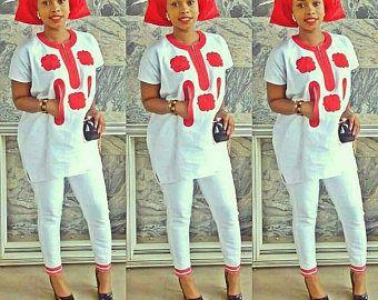 Les femmes africaines portent vêtements broderie africaine mode vêtement / africain