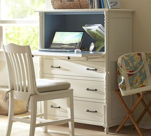 Repurpose/Refinish/Upcycle an old tallboy dresser into a laptop desk - Pottery Barn inspired - save yourself the $1230