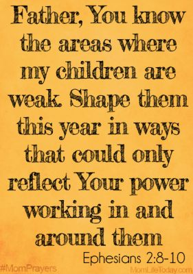 shape my children {and other mom prayers}