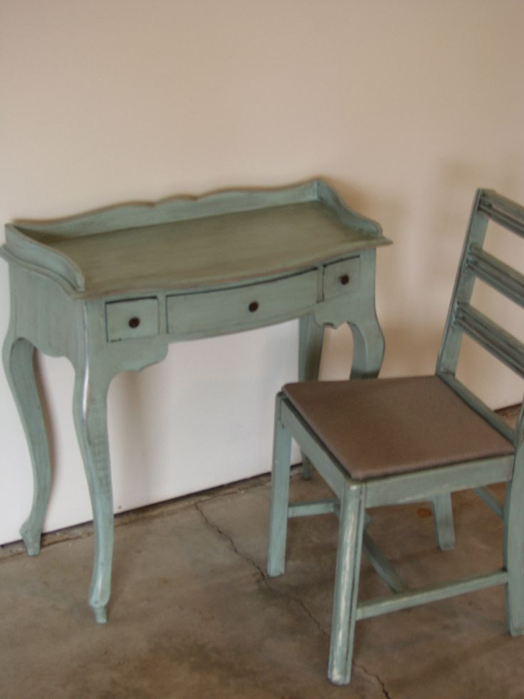 Robin's Egg Blue Rethunk Junk by Laura Paint with dark glaze