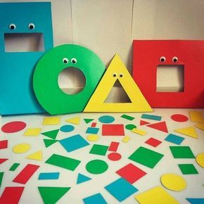 Shapes sorting activity for preschool