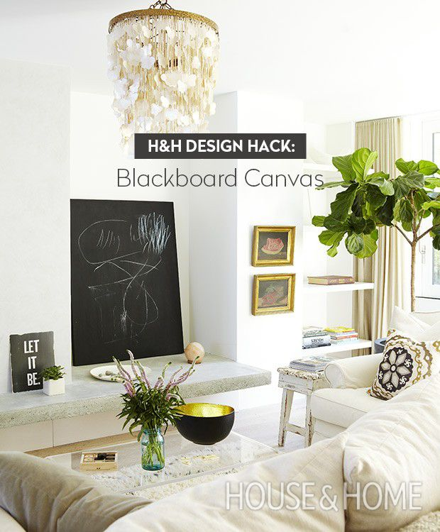 Home Design Hack Part - 24: Design Hack: Blackboard Canvas