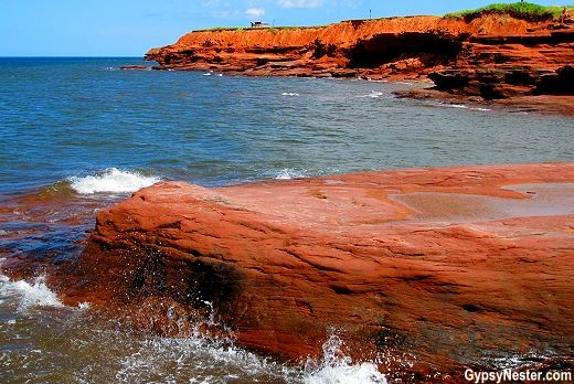 The stunning red cliffs of Prince Edward Island! See our journey: http://www.gypsynester.com/green-gables.htm #travel #canada #pei