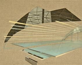 Reforming Utopia 30x24cm, oil on canvas, 2014 #art #architecture #Daniel #Mullen #design