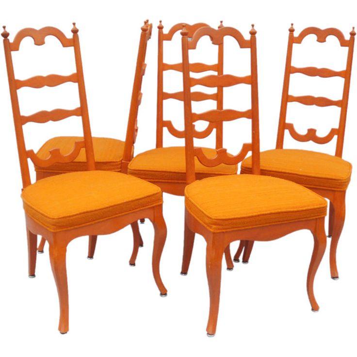 Orange Dining Chairs Orange Pinterest