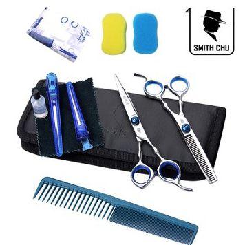 Ножницы парикмахера инструменты для укладки волос ножничные салон плоский срез бахрома режущего зуба истончение ножницы комбинированный комплект